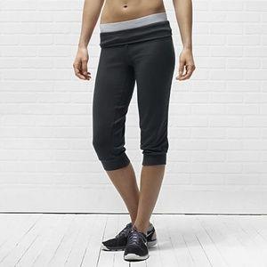 Nike Rand De Jambe Black Training Capri Pants S